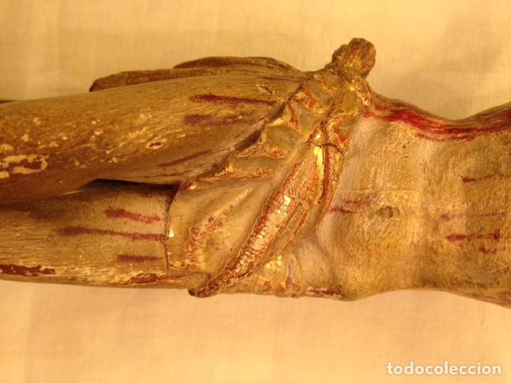 Arte: Cristo crucificado talla madera siglo XVIII - Foto 73 - 141177484