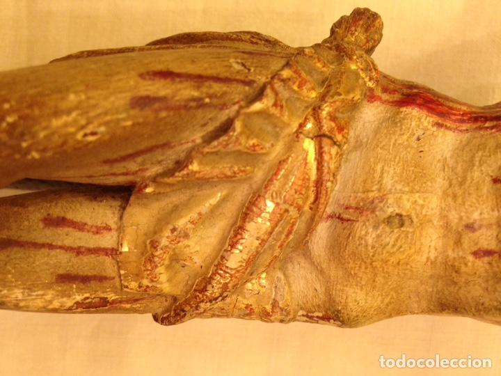 Arte: Cristo crucificado talla madera siglo XVIII - Foto 74 - 141177484