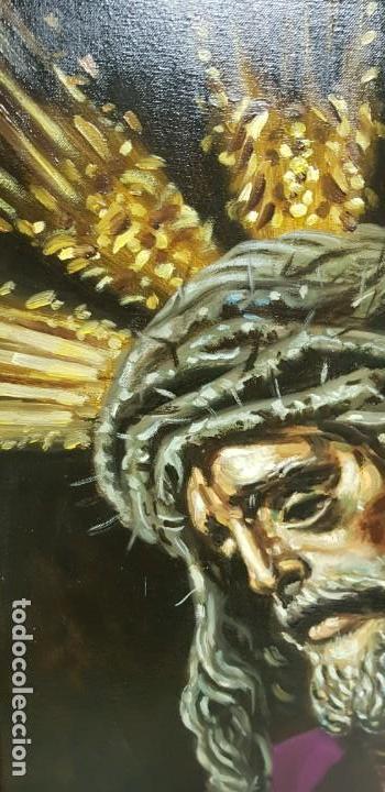 Arte: 1118- ANTIGUO OLEO SOBRE TELA CRISTO NAZARENO,BUENA PIEZA FIRMADO J.RODRIGUEZ 83X63 67X47 - Foto 5 - 141315598