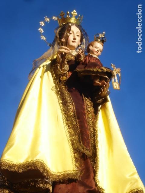 Arte: VIRGEN DEL CARMEN CON NIÑO CAP I POTA EN CAPILLA DE PALISANDRO SXIX - Foto 13 - 141476770
