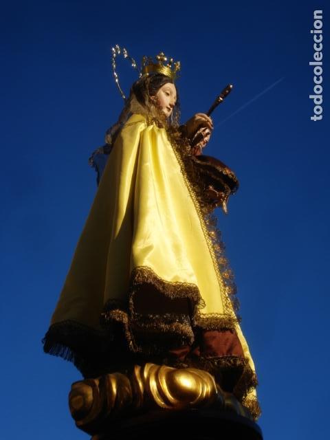 Arte: VIRGEN DEL CARMEN CON NIÑO CAP I POTA EN CAPILLA DE PALISANDRO SXIX - Foto 14 - 141476770