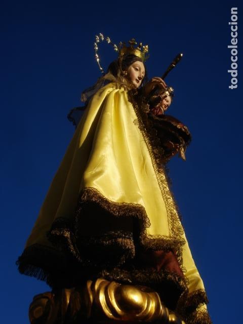 Arte: VIRGEN DEL CARMEN CON NIÑO CAP I POTA EN CAPILLA DE PALISANDRO SXIX - Foto 19 - 141476770