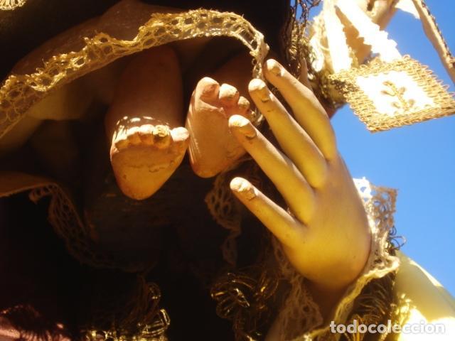 Arte: VIRGEN DEL CARMEN CON NIÑO CAP I POTA EN CAPILLA DE PALISANDRO SXIX - Foto 20 - 141476770