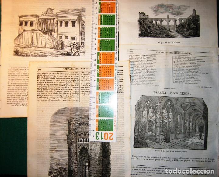 TOLEDO. 8 GRABADOS 1840-3 (Arte - Arte Religioso - Grabados)