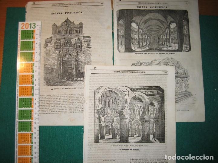 Arte: Toledo. 8 grabados 1840-3 - Foto 2 - 141491998