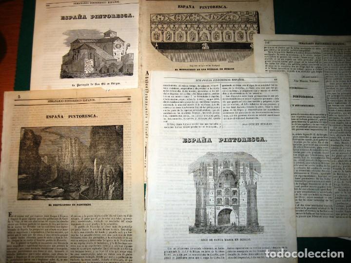 BURGOS. 8 GRABADOS. 1840-3 (Arte - Arte Religioso - Grabados)
