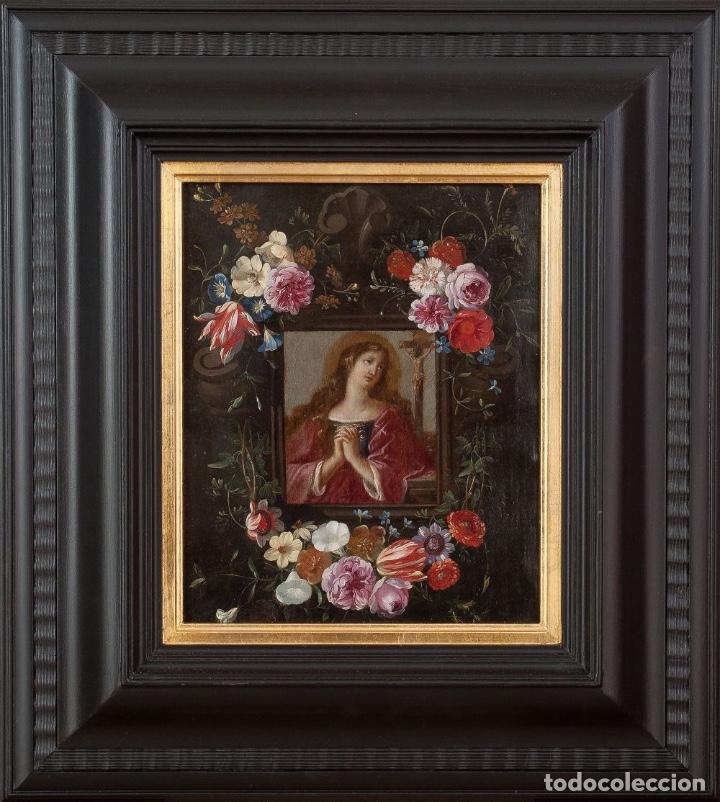Arte: JAN VAN KESSEL EL VIEJO THE ELDER Mary Magdalene in Flower Box Maria Magdalena Óleo sobre cobre - Foto 2 - 141511622