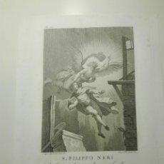 Arte: S. FILIPPO NERI. L. AGRICOLA INV. & DI. P. FONTANA INCISE. CADENDO IN UNA FOSSA... 1810. Lote 141518346
