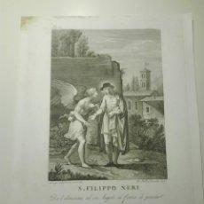 Arte: S. FILIPPO NERI. L. AGRICOLA INV. & DI. G.B. LEONETTI INC. DA L'ELEMOSINA AD UN ANGELO... 1810. Lote 141518350