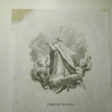 Arte: S. PHILIPPUS NERI. GRABADO CALCOGRÁFICO. CA 1810, 31X23 CM.. Lote 141518354