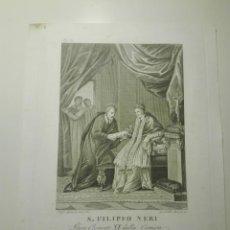 Arte: S. FILIPPO NERI. L. AGRICOLA INV. & DI. G.B. LEONETTI INC. LIBERA CLEMENTE XI DALLA CIRAGRA... 1810. Lote 141518362