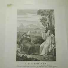 Arte: S.FILIPPO NERI. L. AGRICOLA INV. & DI.G.B.LEONETTI INC.VOLENDO ANDARÉ A CONVERTIRÉ GL'INFIDELI..1810. Lote 141518370