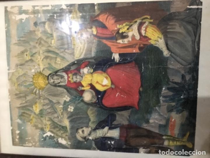 Arte: (M) antiguo grabado final de s. XVIII principio S. XIX virgen ntra. sta. De Montserrat - Foto 2 - 141654894