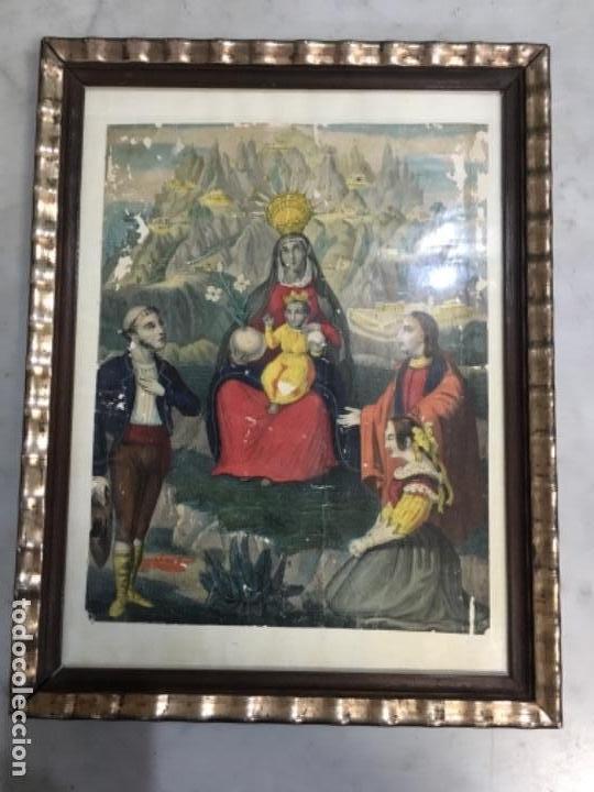 (M) ANTIGUO GRABADO FINAL DE S. XVIII PRINCIPIO S. XIX VIRGEN NTRA. STA. DE MONTSERRAT (Arte - Arte Religioso - Grabados)