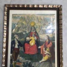 Arte: (M) ANTIGUO GRABADO FINAL DE S. XVIII PRINCIPIO S. XIX VIRGEN NTRA. STA. DE MONTSERRAT. Lote 141654894