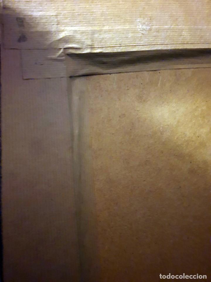 Arte: Sagrado corazón de Jesús - siglo XX - firma de Alberto - PINTURA - óleo sobre tabla de 113 x 83 cm. - Foto 6 - 141747758