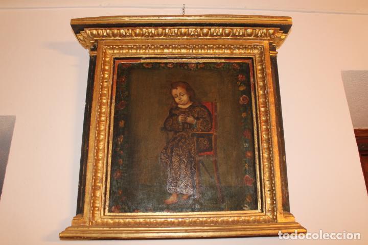 NIÑO DE LA SILLA (Arte - Arte Religioso - Pintura Religiosa - Oleo)