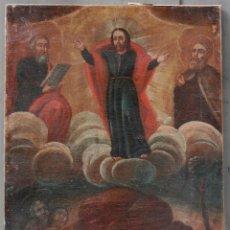Arte: ESCENA RELIGIOSA, ASCENSIÓN DE JESÚS, PINTURA AL ÓLEO SOBRE TELA, SIN MARCO, SIGLO XVIII. 80X60CM. Lote 142146658