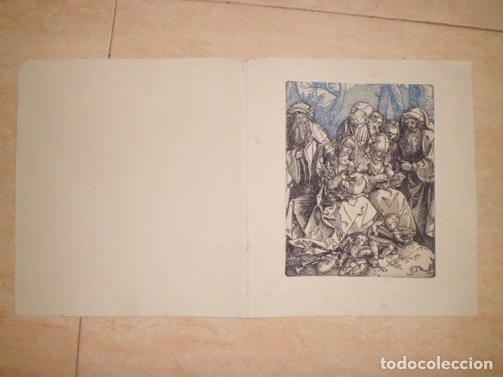 Arte: LOTE DE 3 GRABADOS EN PLANCHA DE NAVIDAD - Foto 4 - 142194278