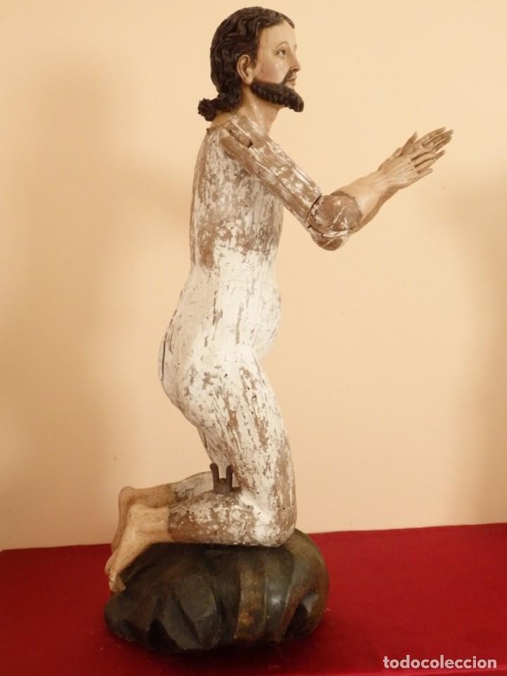 Arte: Oración de Jesús en el Huerto de los Olivos. Imagen vestidera o cap i pota. Madera. 86 cm. S. XVIII. - Foto 4 - 142209234