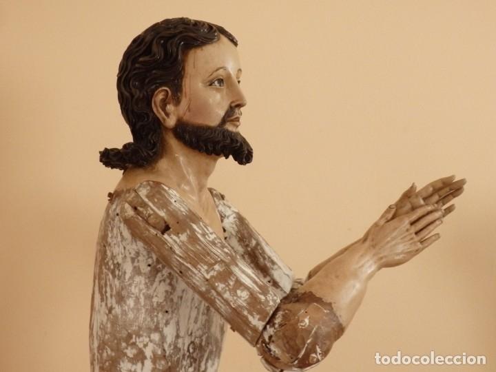 Arte: Oración de Jesús en el Huerto de los Olivos. Imagen vestidera o cap i pota. Madera. 86 cm. S. XVIII. - Foto 5 - 142209234