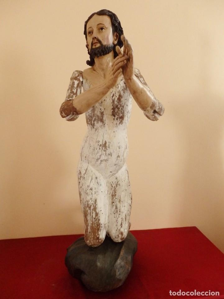 Arte: Oración de Jesús en el Huerto de los Olivos. Imagen vestidera o cap i pota. Madera. 86 cm. S. XVIII. - Foto 6 - 142209234