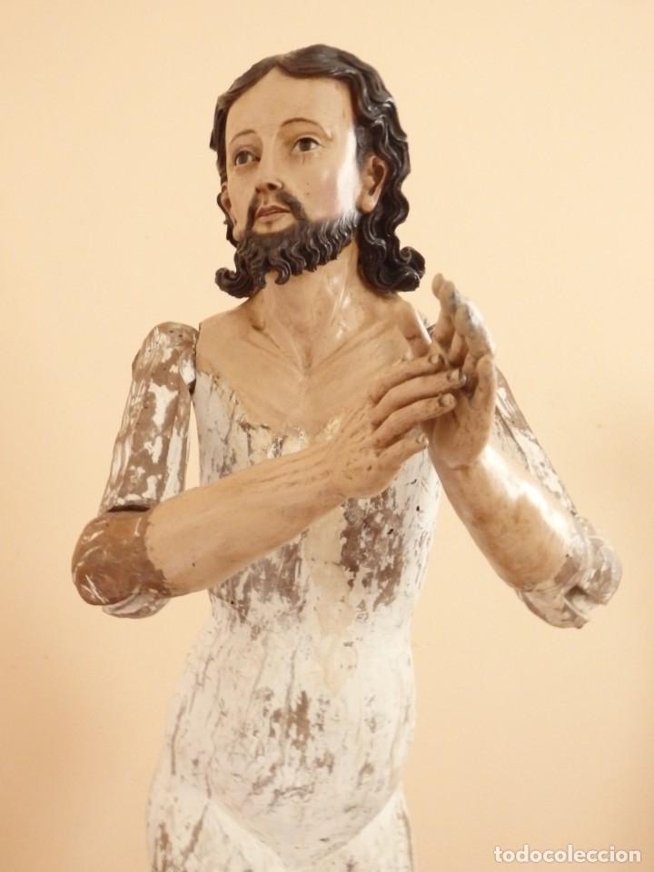 Arte: Oración de Jesús en el Huerto de los Olivos. Imagen vestidera o cap i pota. Madera. 86 cm. S. XVIII. - Foto 7 - 142209234
