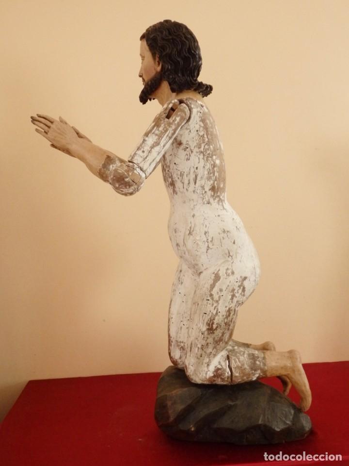 Arte: Oración de Jesús en el Huerto de los Olivos. Imagen vestidera o cap i pota. Madera. 86 cm. S. XVIII. - Foto 8 - 142209234