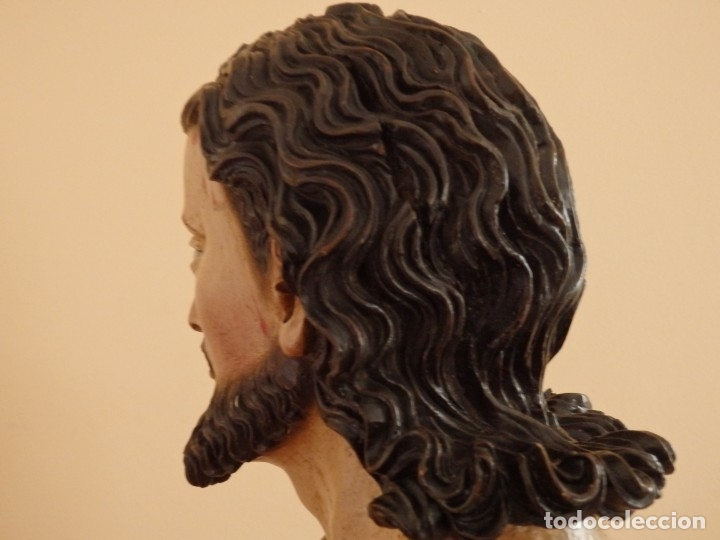 Arte: Oración de Jesús en el Huerto de los Olivos. Imagen vestidera o cap i pota. Madera. 86 cm. S. XVIII. - Foto 9 - 142209234
