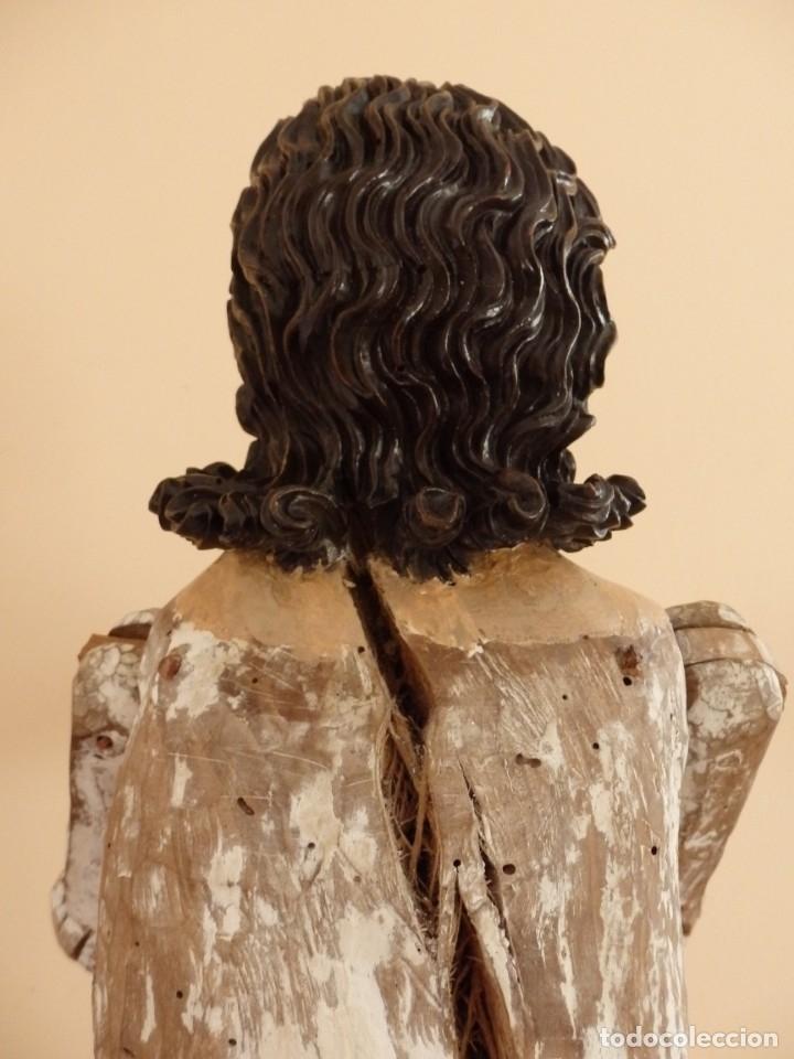 Arte: Oración de Jesús en el Huerto de los Olivos. Imagen vestidera o cap i pota. Madera. 86 cm. S. XVIII. - Foto 13 - 142209234