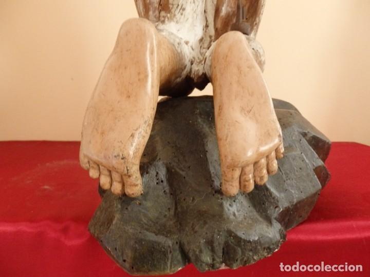 Arte: Oración de Jesús en el Huerto de los Olivos. Imagen vestidera o cap i pota. Madera. 86 cm. S. XVIII. - Foto 15 - 142209234