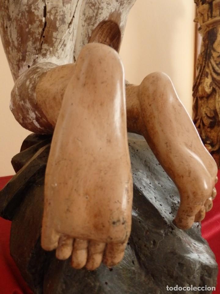 Arte: Oración de Jesús en el Huerto de los Olivos. Imagen vestidera o cap i pota. Madera. 86 cm. S. XVIII. - Foto 16 - 142209234