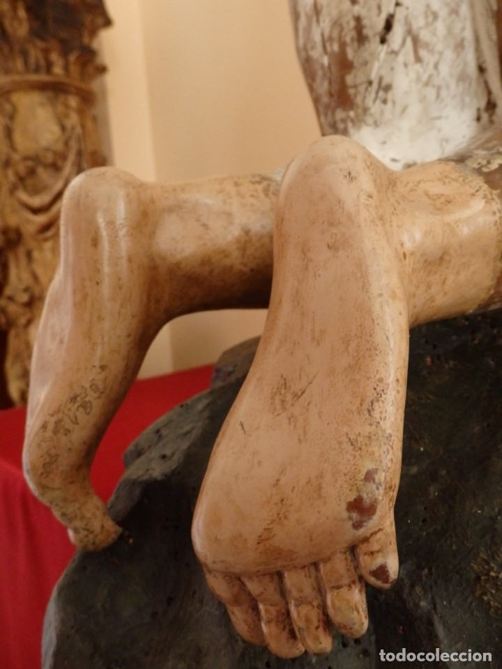 Arte: Oración de Jesús en el Huerto de los Olivos. Imagen vestidera o cap i pota. Madera. 86 cm. S. XVIII. - Foto 17 - 142209234