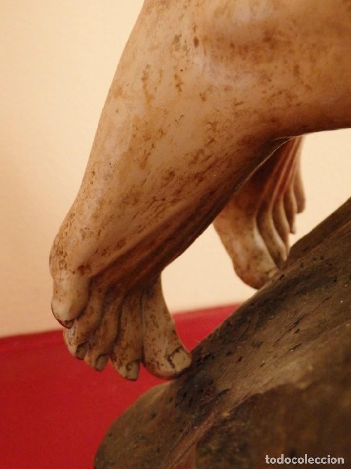 Arte: Oración de Jesús en el Huerto de los Olivos. Imagen vestidera o cap i pota. Madera. 86 cm. S. XVIII. - Foto 18 - 142209234