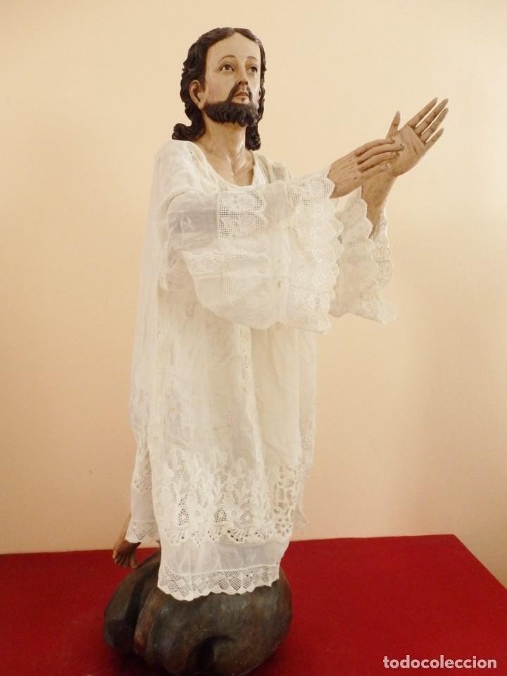 Arte: Oración de Jesús en el Huerto de los Olivos. Imagen vestidera o cap i pota. Madera. 86 cm. S. XVIII. - Foto 19 - 142209234