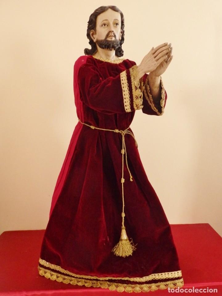 Arte: Oración de Jesús en el Huerto de los Olivos. Imagen vestidera o cap i pota. Madera. 86 cm. S. XVIII. - Foto 20 - 142209234