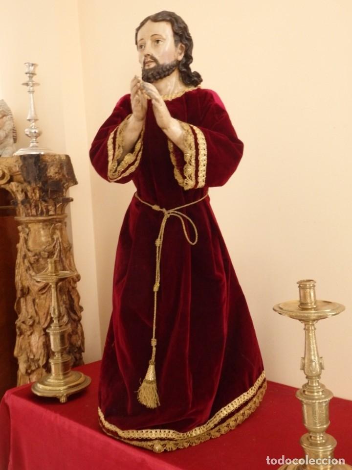 Arte: Oración de Jesús en el Huerto de los Olivos. Imagen vestidera o cap i pota. Madera. 86 cm. S. XVIII. - Foto 22 - 142209234