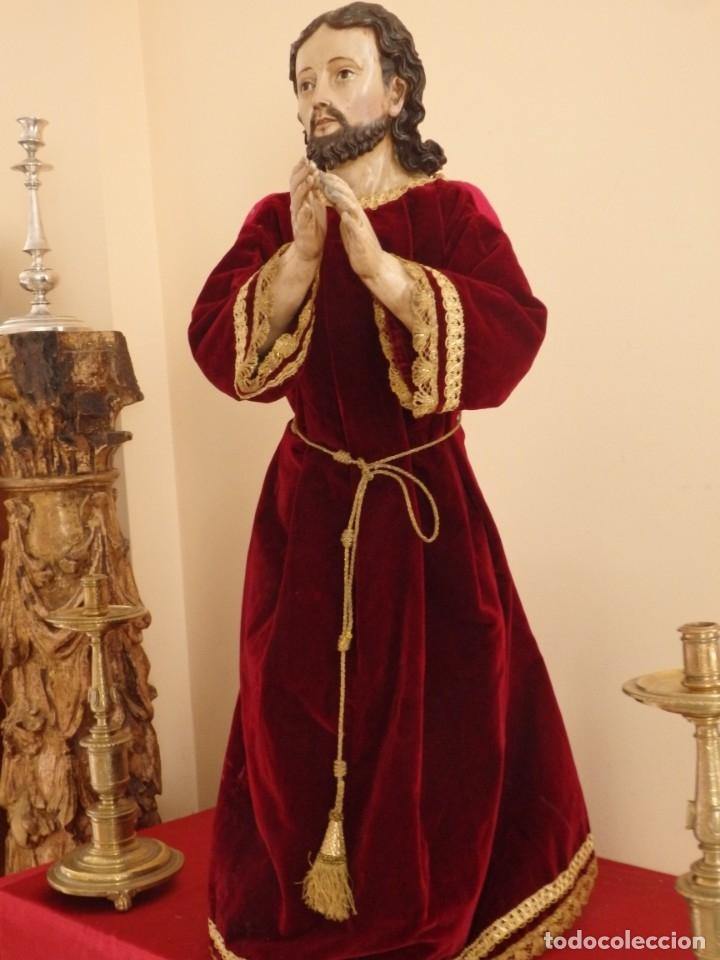 Arte: Oración de Jesús en el Huerto de los Olivos. Imagen vestidera o cap i pota. Madera. 86 cm. S. XVIII. - Foto 23 - 142209234