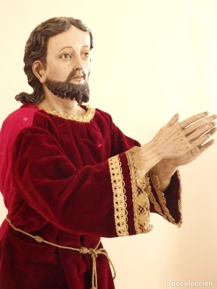 Arte: Oración de Jesús en el Huerto de los Olivos. Imagen vestidera o cap i pota. Madera. 86 cm. S. XVIII. - Foto 25 - 142209234