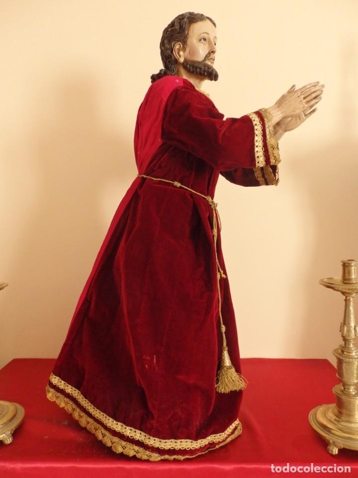 Arte: Oración de Jesús en el Huerto de los Olivos. Imagen vestidera o cap i pota. Madera. 86 cm. S. XVIII. - Foto 26 - 142209234