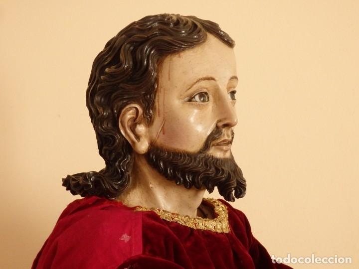 Arte: Oración de Jesús en el Huerto de los Olivos. Imagen vestidera o cap i pota. Madera. 86 cm. S. XVIII. - Foto 28 - 142209234