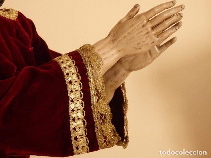 Arte: Oración de Jesús en el Huerto de los Olivos. Imagen vestidera o cap i pota. Madera. 86 cm. S. XVIII. - Foto 29 - 142209234