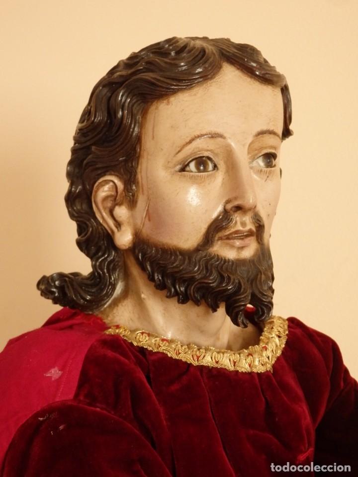 Arte: Oración de Jesús en el Huerto de los Olivos. Imagen vestidera o cap i pota. Madera. 86 cm. S. XVIII. - Foto 30 - 142209234