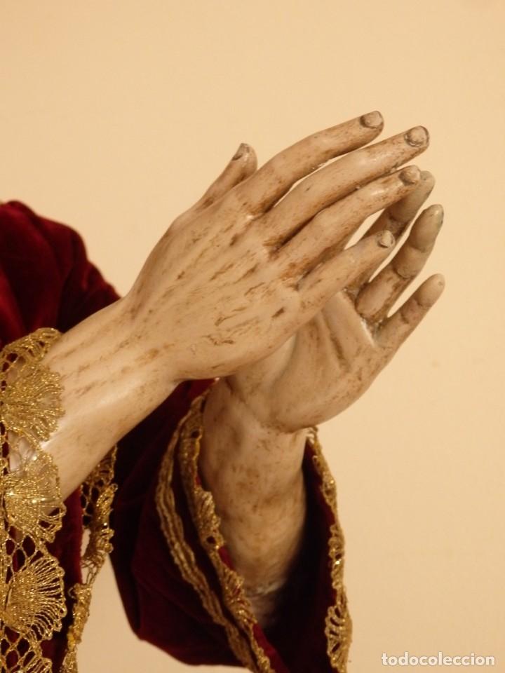 Arte: Oración de Jesús en el Huerto de los Olivos. Imagen vestidera o cap i pota. Madera. 86 cm. S. XVIII. - Foto 31 - 142209234