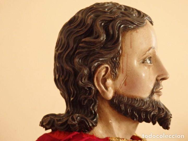 Arte: Oración de Jesús en el Huerto de los Olivos. Imagen vestidera o cap i pota. Madera. 86 cm. S. XVIII. - Foto 32 - 142209234
