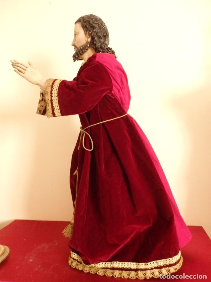 Arte: Oración de Jesús en el Huerto de los Olivos. Imagen vestidera o cap i pota. Madera. 86 cm. S. XVIII. - Foto 33 - 142209234