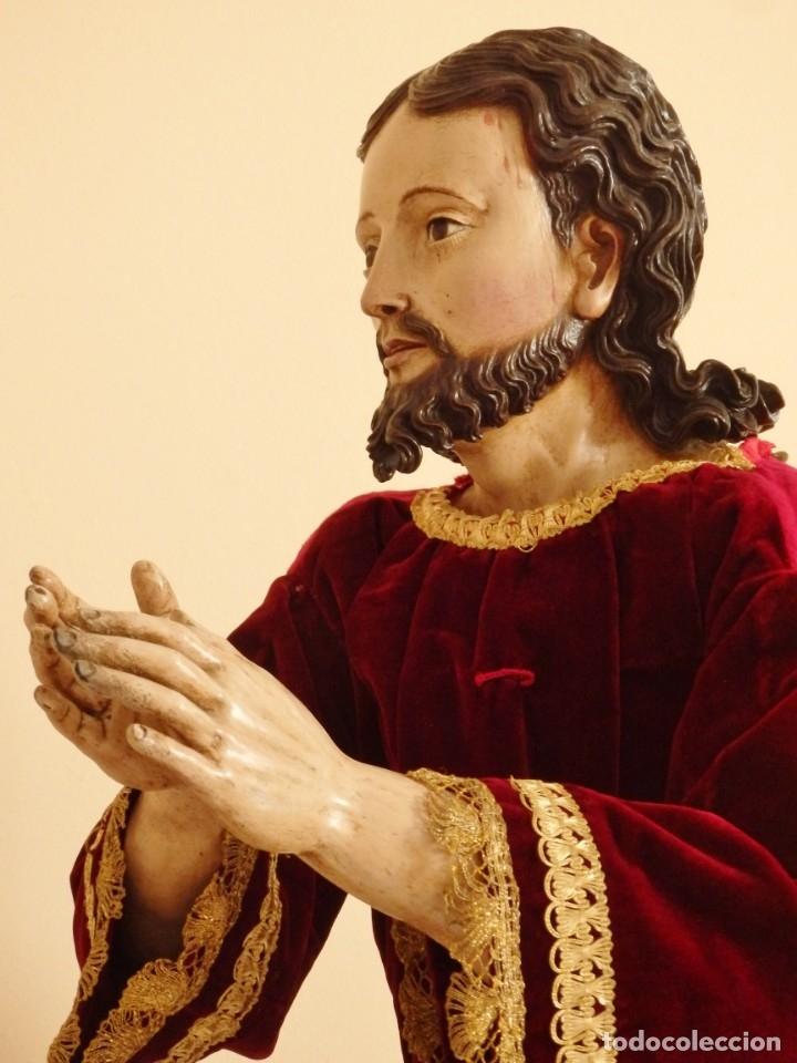 Arte: Oración de Jesús en el Huerto de los Olivos. Imagen vestidera o cap i pota. Madera. 86 cm. S. XVIII. - Foto 34 - 142209234