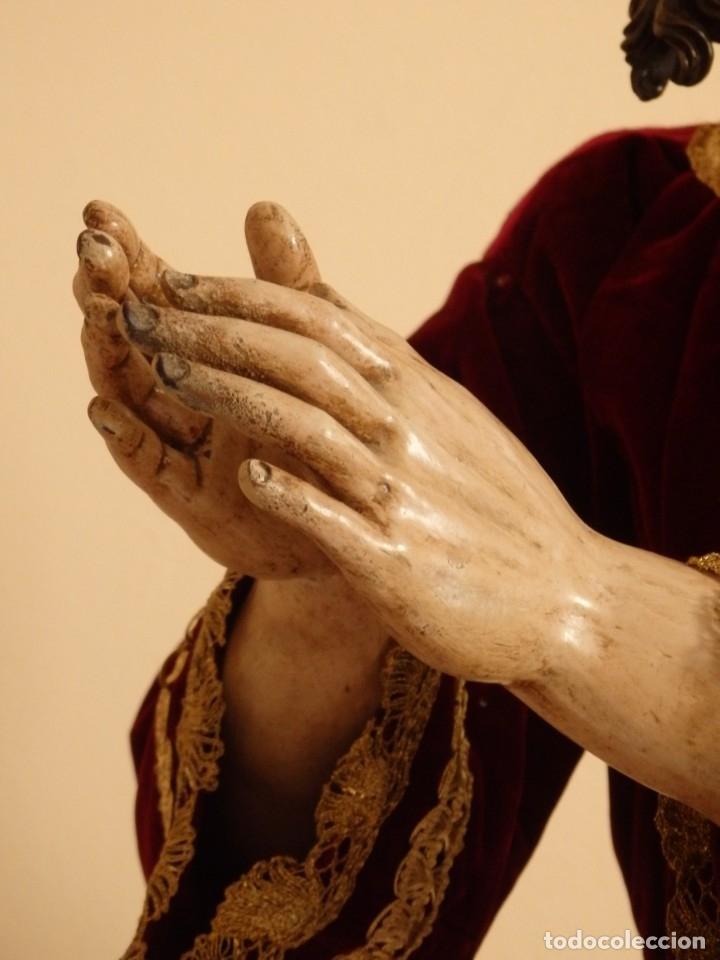 Arte: Oración de Jesús en el Huerto de los Olivos. Imagen vestidera o cap i pota. Madera. 86 cm. S. XVIII. - Foto 35 - 142209234
