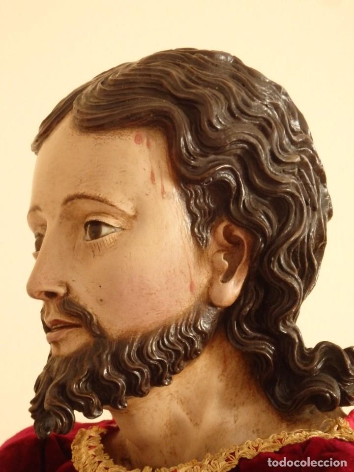 Arte: Oración de Jesús en el Huerto de los Olivos. Imagen vestidera o cap i pota. Madera. 86 cm. S. XVIII. - Foto 36 - 142209234