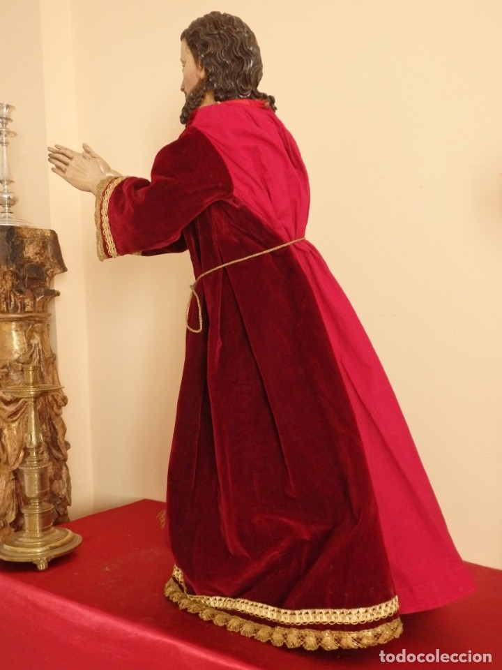 Arte: Oración de Jesús en el Huerto de los Olivos. Imagen vestidera o cap i pota. Madera. 86 cm. S. XVIII. - Foto 37 - 142209234